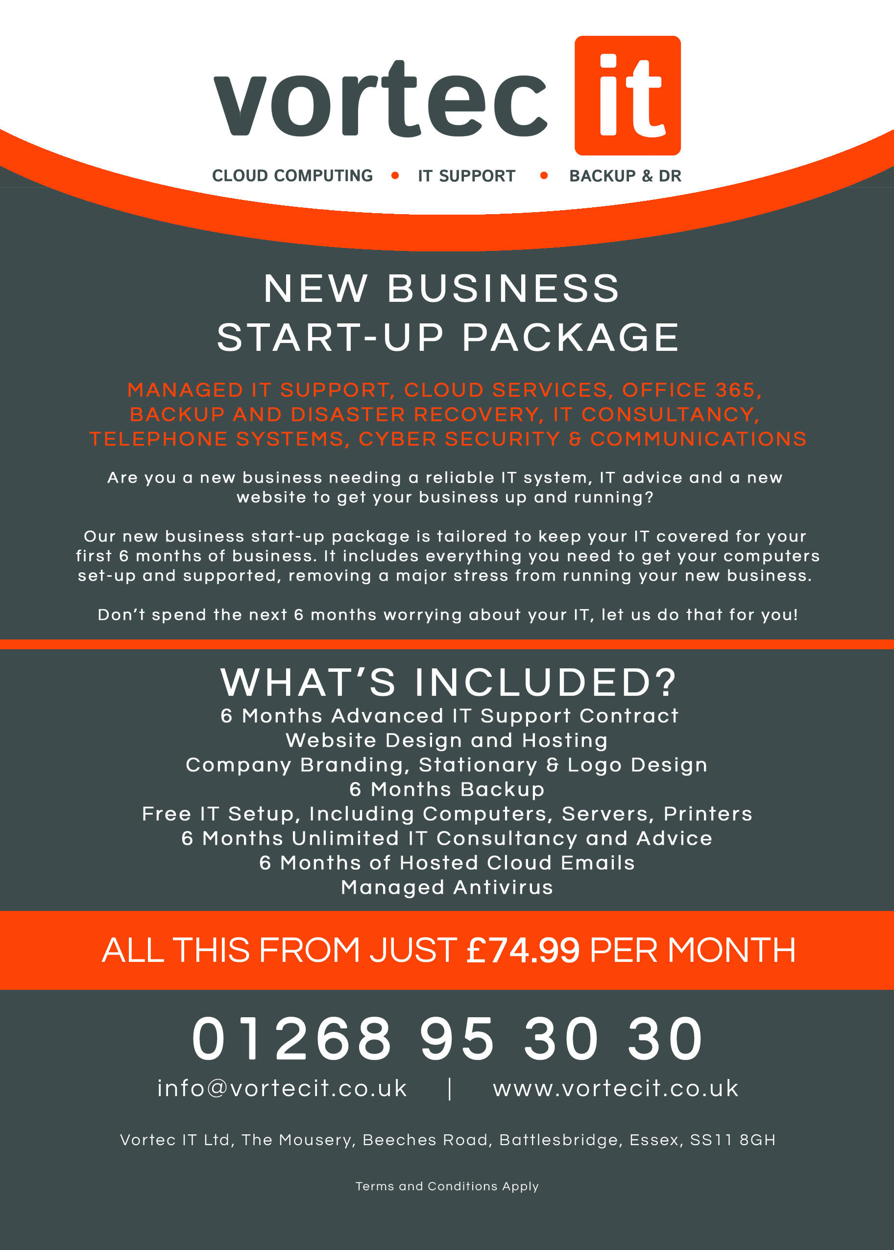 new business start up package vortec it